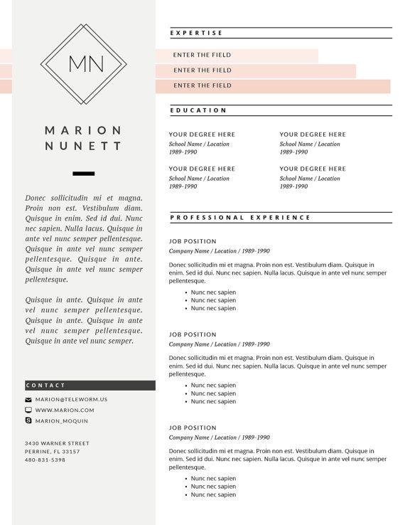 Pk Resume Template S A L E  Cv Template Cover  Resume