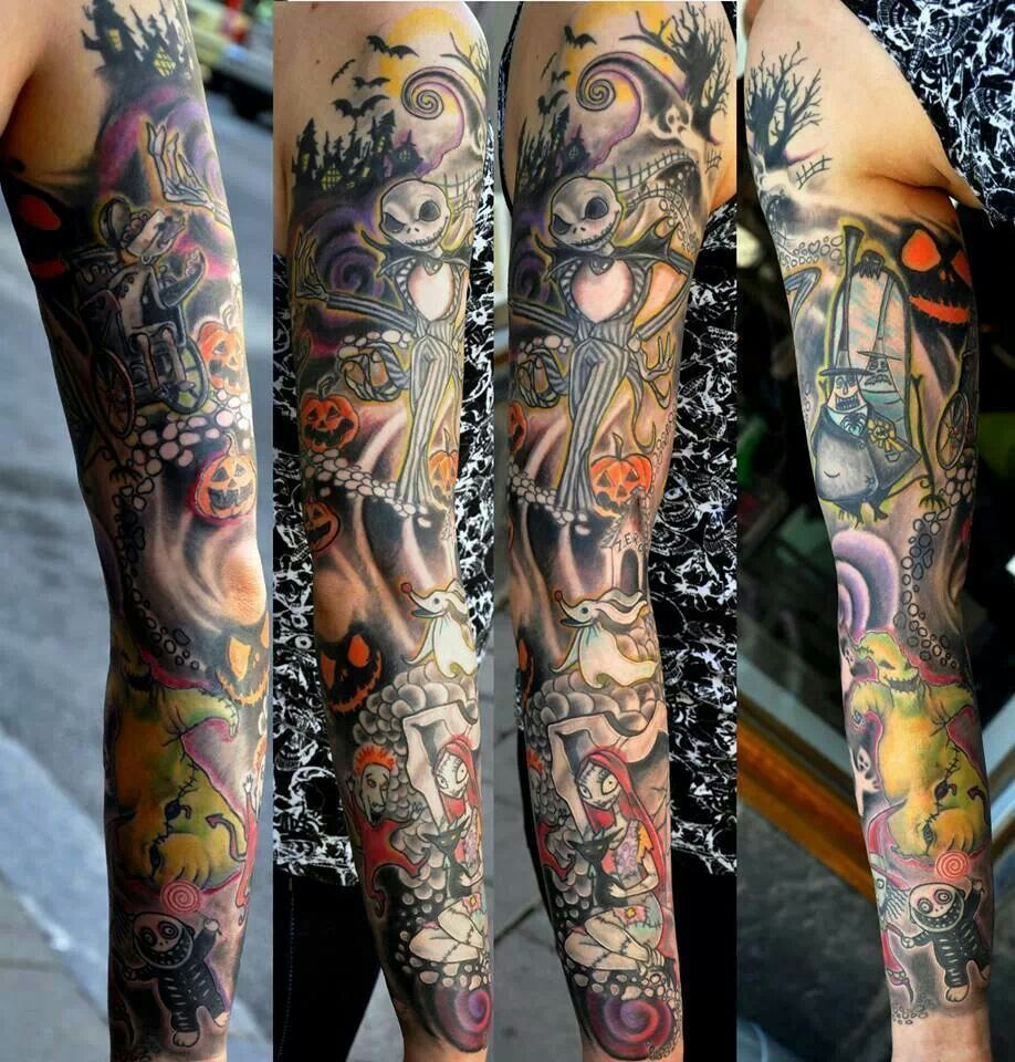 The Nightmare Before Christmas Sleeve tattoo. | The Nightmare Before ...