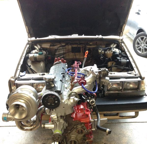 Volvo S60 Grey Car Full Hd Wallpaper: Schzamm Sized Turbo On This B230 Power Producer Going Into