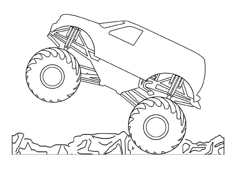 Coloring Pages of Monster Trucks For Kids Omalov nky