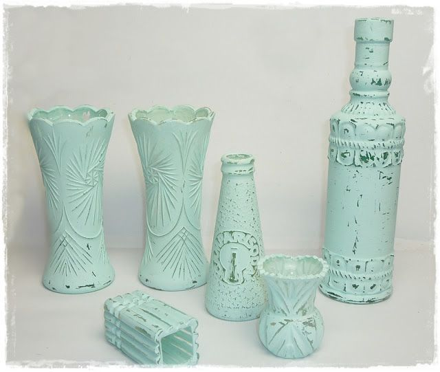 Shabby Chic Deko Ideen Weihnachten Das Beste Von Diy: Vasen+Flaschen Mit Selbstgemachter Kreidefarbe Bemalen