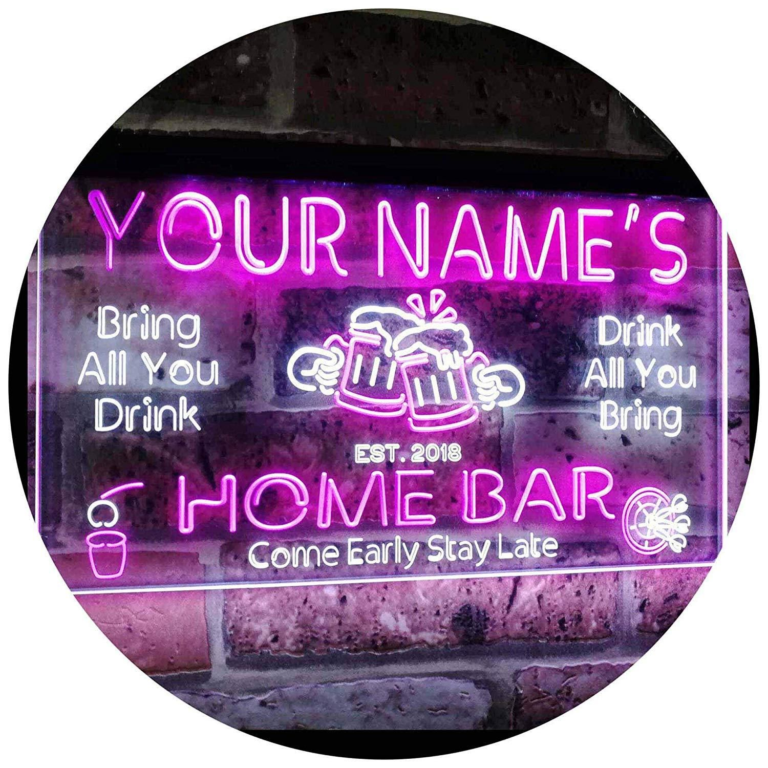 Personalized Home Bar LED Neon Light Sign | Neon light