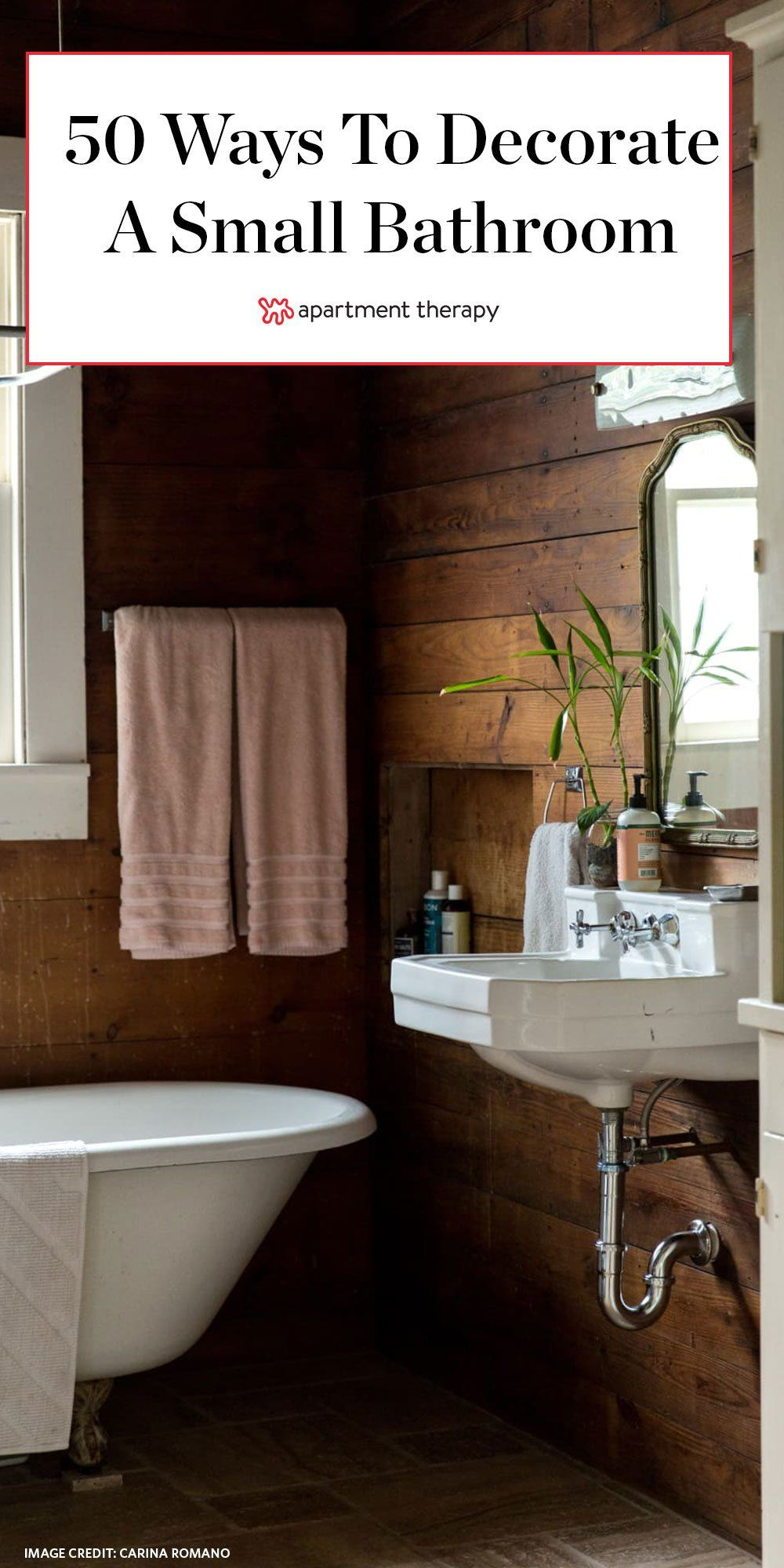 Fifty Genius Small Bathroom Decorating And Layout Ideas Design Tricks And More To Make The Most Of Even Th In 2020 Small Bathroom Small Bathroom Decor Bathroom Decor