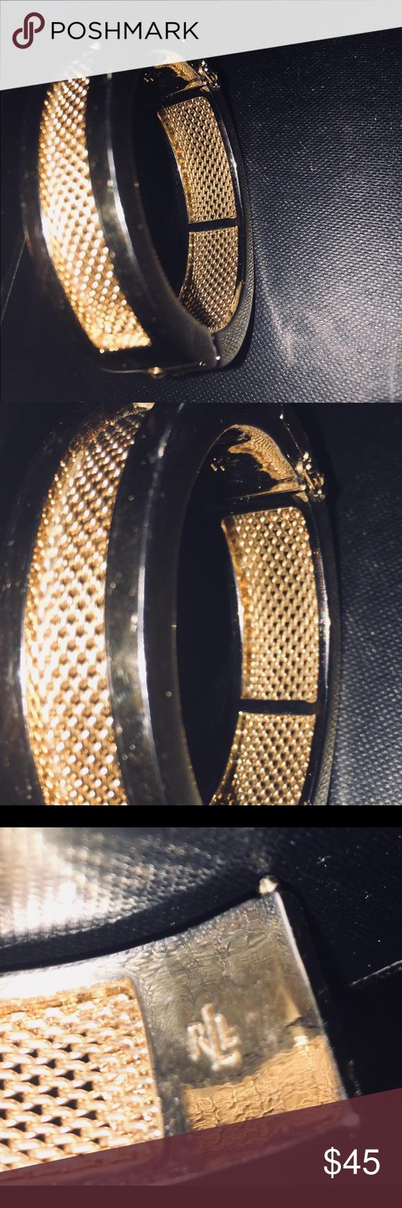 Rlauren thick gold tone braceletbangle