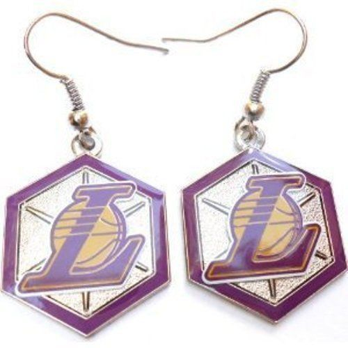 Los Angeles Lakers Hex Style Dangle Earrings