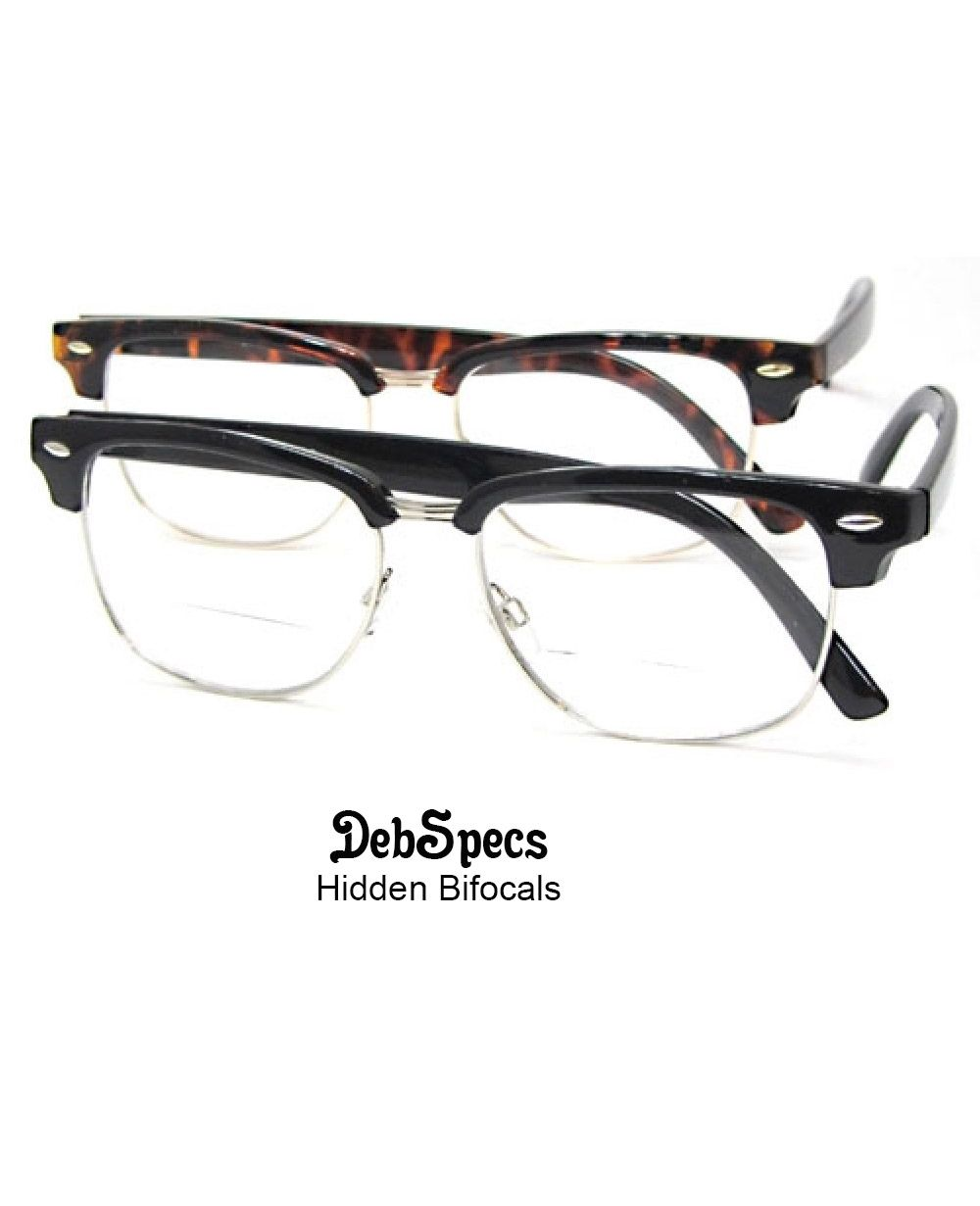 ce7bc60171c9 No-line bifocal readers @ DebSpecs. Sexy, quality styles under $18 for him  & her. Clear on top so you don't get woozy looking at the world.