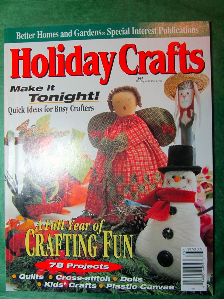Ordinary Better Homes And Gardens Craft Ideas Part - 9: 1 - VINTAGE BETTER HOMES U0026 GARDENS HOLIDAY CRAFTS MAGAZINE - 1994 120+ Pp