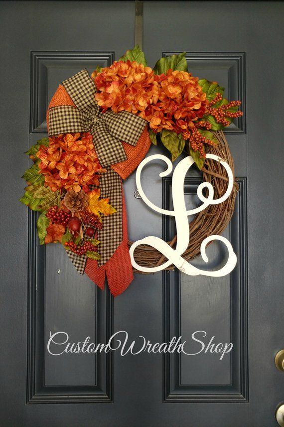 Fall Wreath for Front Door,Fall Wreath, Autumn Wreath,Wreath, Door Wreath, Harvest Wreath, Grapevine Wreath, Halloween Wreath, Thanksgiving #fallwreaths