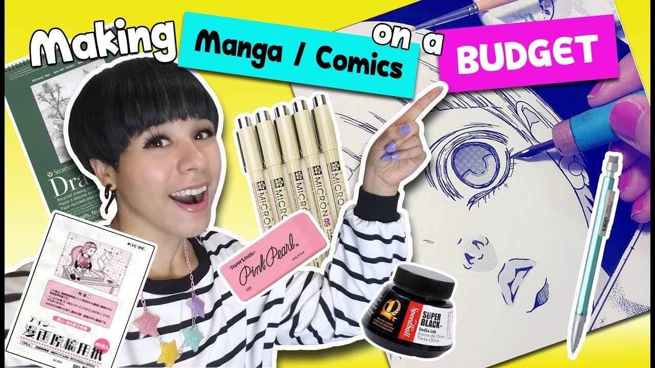 How To Make Manga Comics On A Budget Youtube Comics Manga Comics Manga