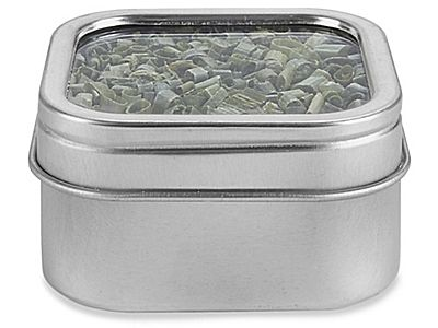 deep metal tins square 2 oz window lid s20654
