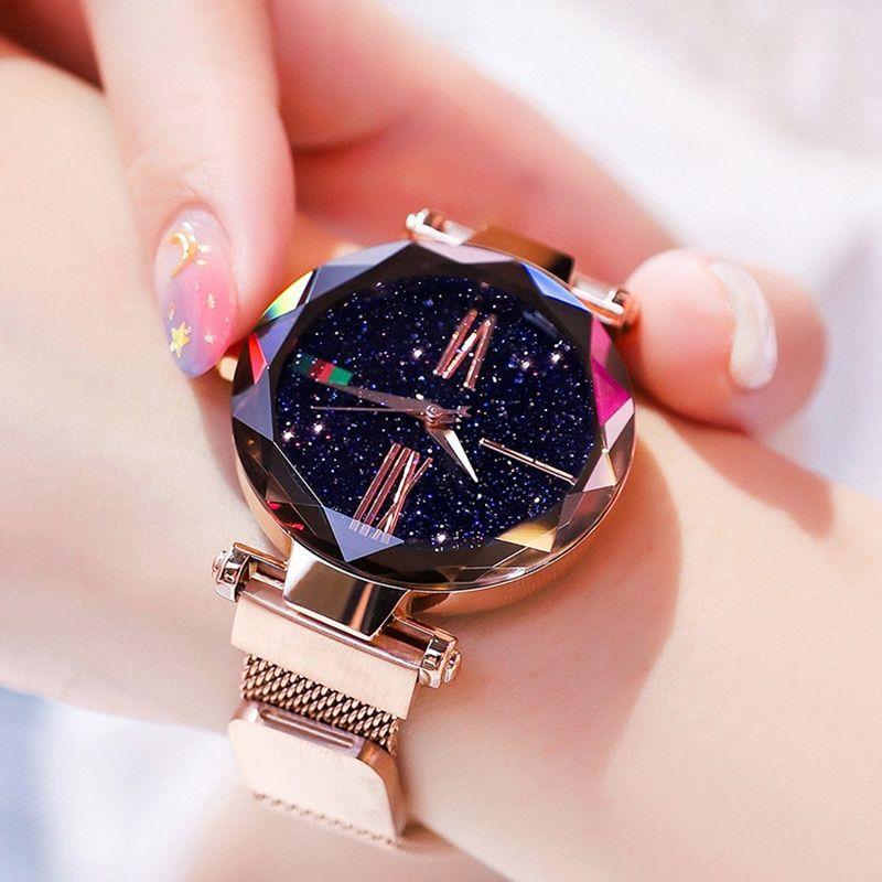 Tephea Ladies Minimalist Casual Watch Luxury Diamond Prism Bilezik Saat Moda Taki Bohem Tarzi Taki