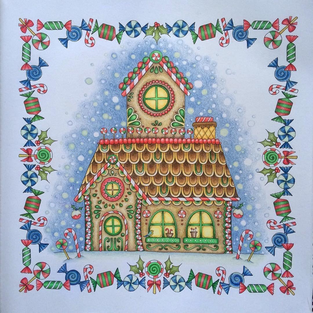 Gingerbread House Book Johannas Christmas Medium Prismacolor Premier Johannabasford Johannaschristmas Adultcoloringbooks