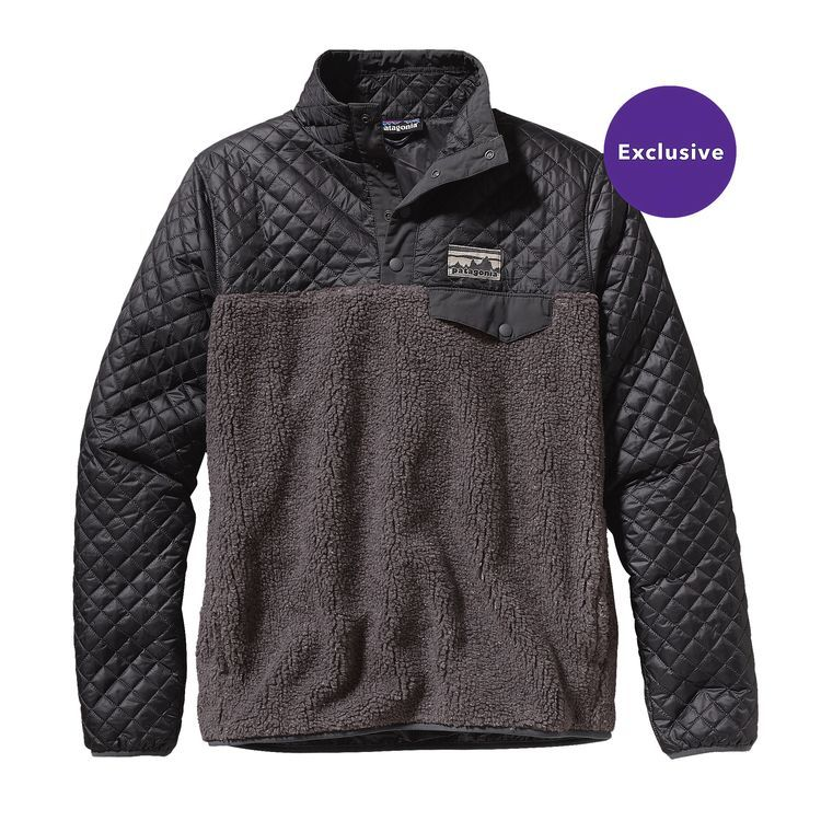 W S Mixed Snap T 174 Pullover Forge Grey Fge Patagonia
