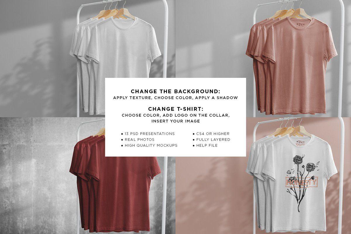 Download T Shirt Mock Up On Hanger Graphic Design Portfolio Print Tshirt Mockup Mockup