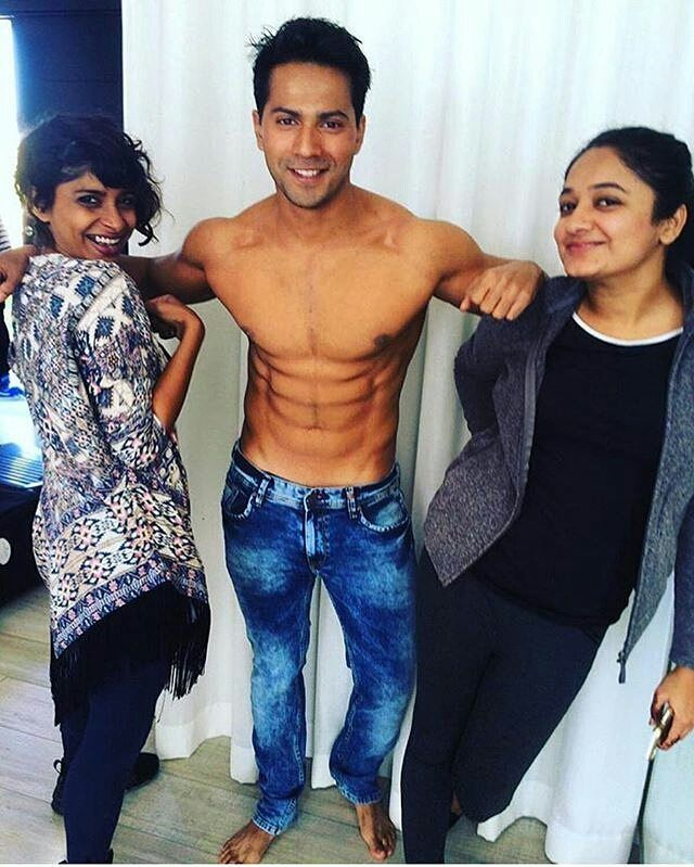 Varundhawan Shows Of His Six Pack Abs That He Has Build For His