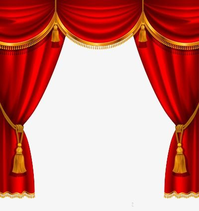 Stage Curtain Stage Clipart Red Decoration Png Transparent