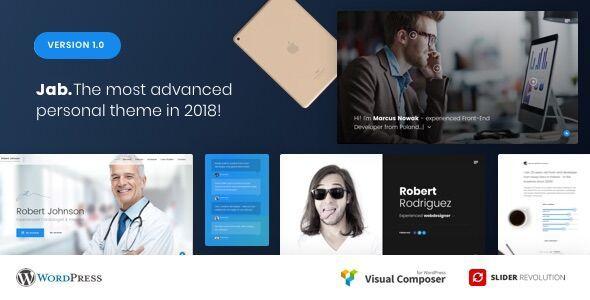 Jab Advanced Personal Resume Cv Vcard Theme Resume Cv And