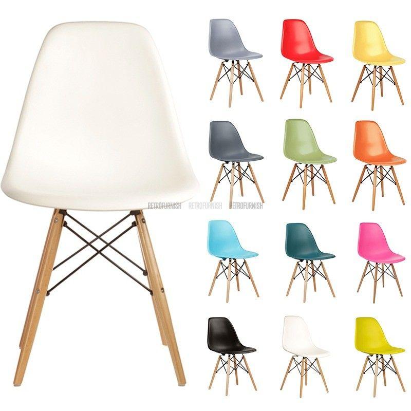 Chaise Plastique Dsw Inspiration De Charles Eames Retrofurnish Reproduction De Meubles Chaise Plastique Mobilier De Salon Salle A Manger Design