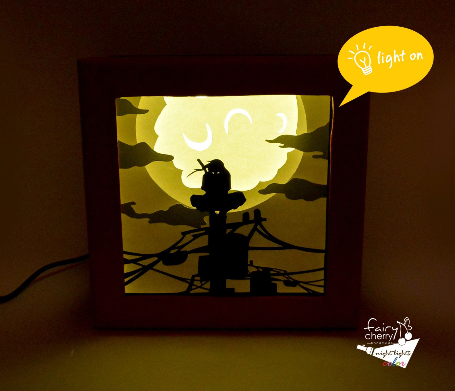 Itachi Night Light Anime Night Light Anime Gift Geek Night Light Naruto Home Decor Naruto Gift Anime Birthday Gift Naru Anime Gifts Geek Gifts Diy Anime