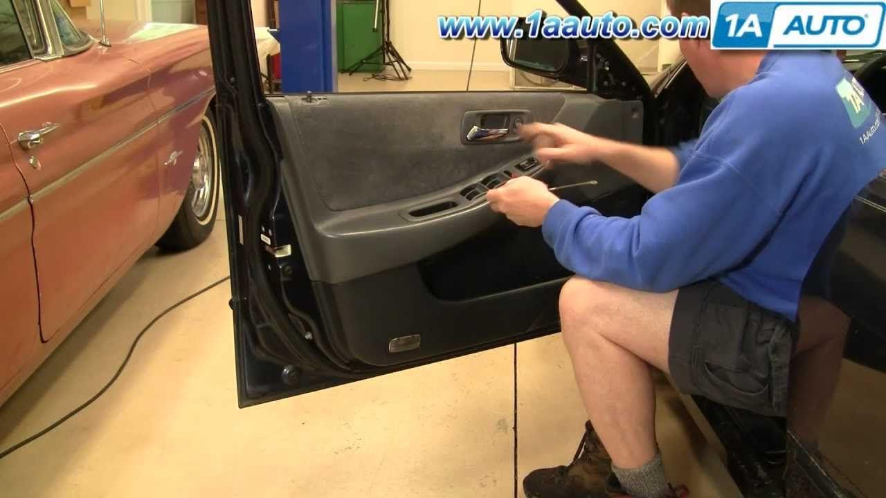 How To Install Remove Door Panel Honda Accord 4dr 98 02 1aauto Com Panel Doors Honda Civic Ex Honda Accord