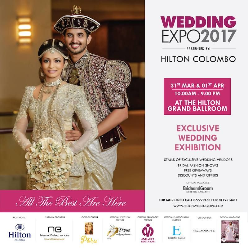 Hilton Wedding Expo 2017 Colombo By Bride Groom Magazine Exhibition On March At The