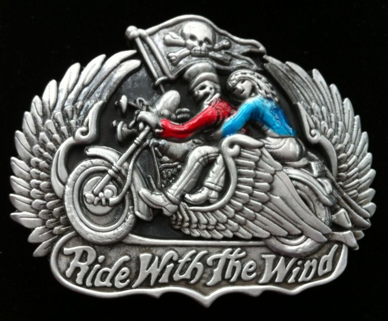 Motorcycles Ride With the Wind Skull Men Belt Buckles Boucle de Ceinture  Belts. Motorcycle ... e8f76ecac18