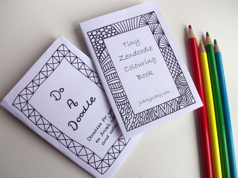 2 Mini Zines Printable Zentangle Inspired Do A Doodle