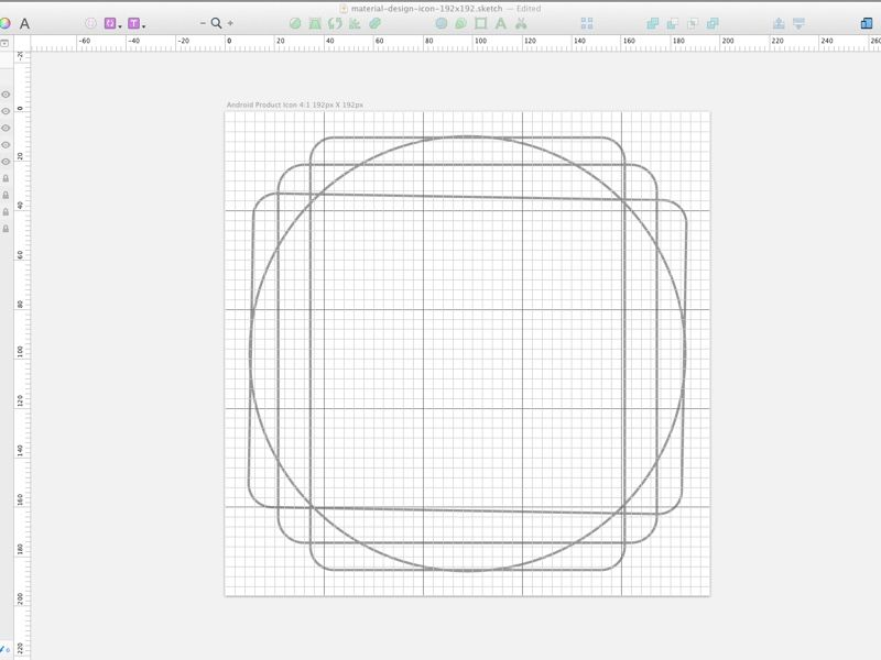Material Design icon grid template | Koé UI | Pinterest | Material ...