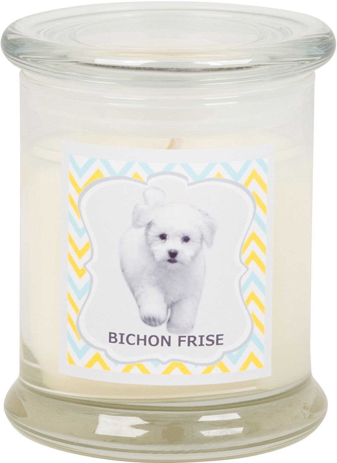 Aroma paws breed candle jar 12ounce bichon frise