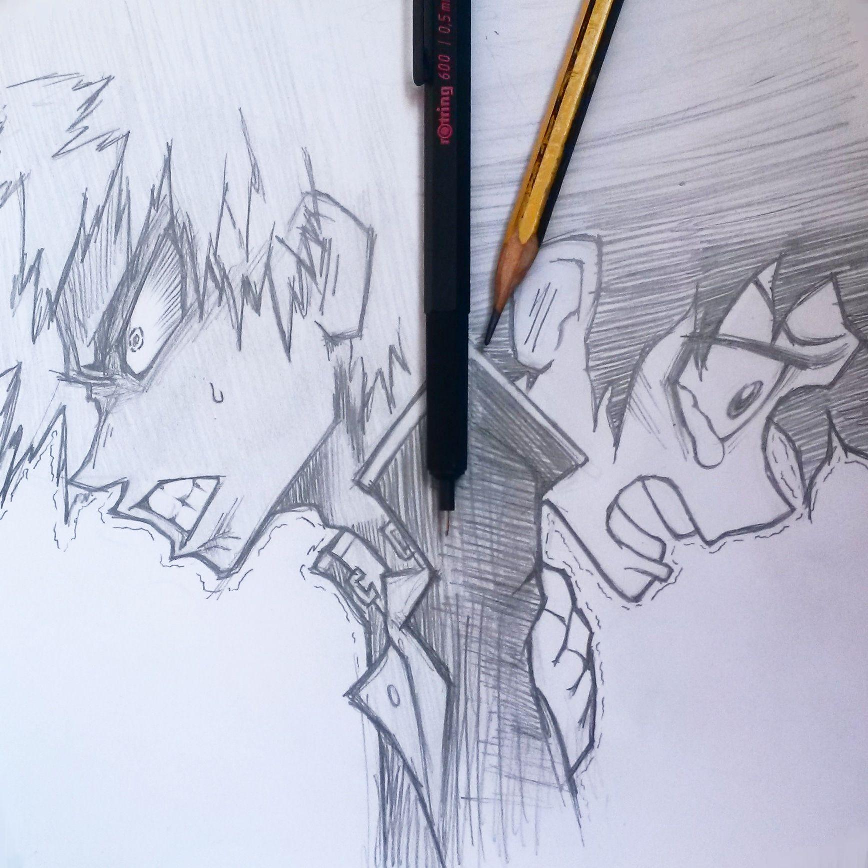 How An Adventure Begins My Hero Academia Deku And Bakugou From Boku No Hero Academia My Hero Academia My Hero Hero