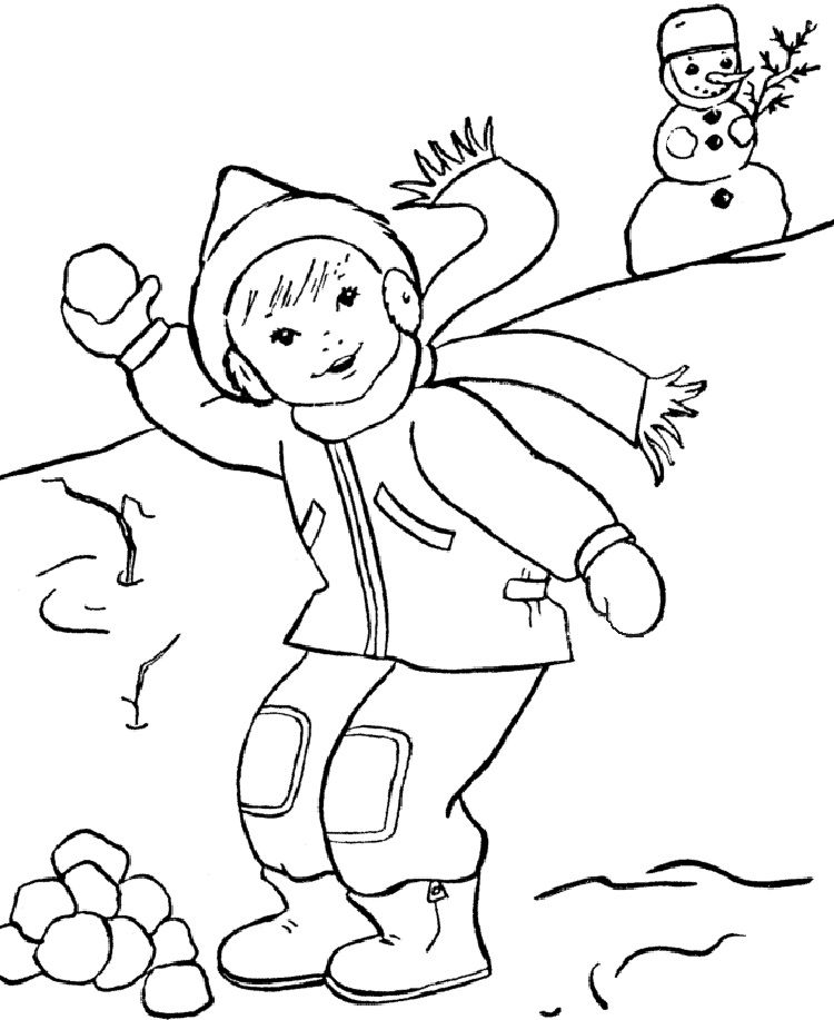 Free Winter Coloring Pages Kindergarten Coloring Pages For Kids
