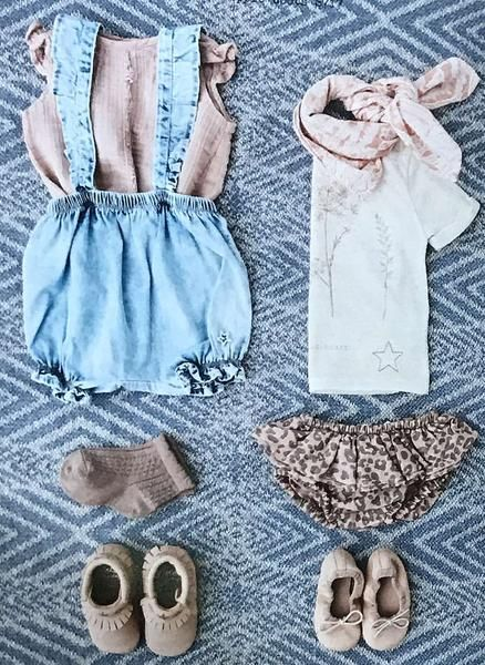 867bec504d Tocoto Vintage Baby Denim Coulotte with Suspenders