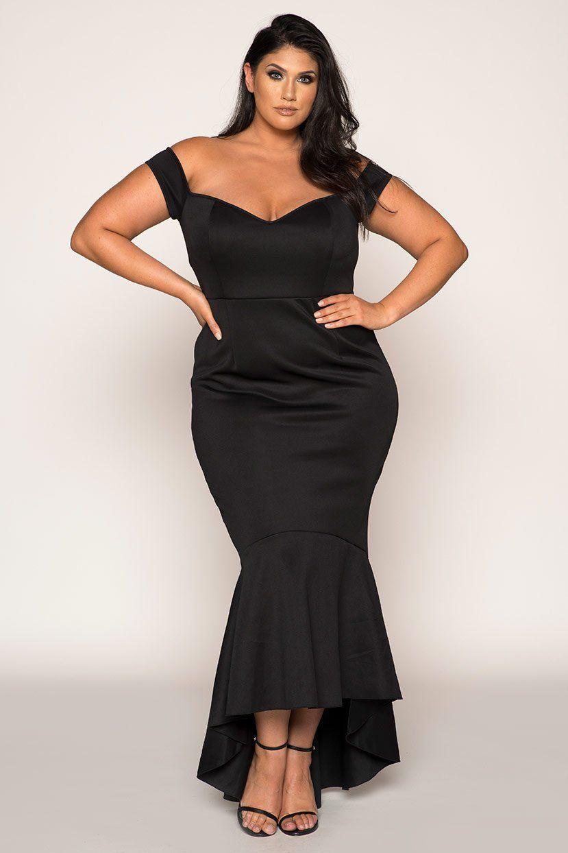 Plus Size Dress Black Tie Event