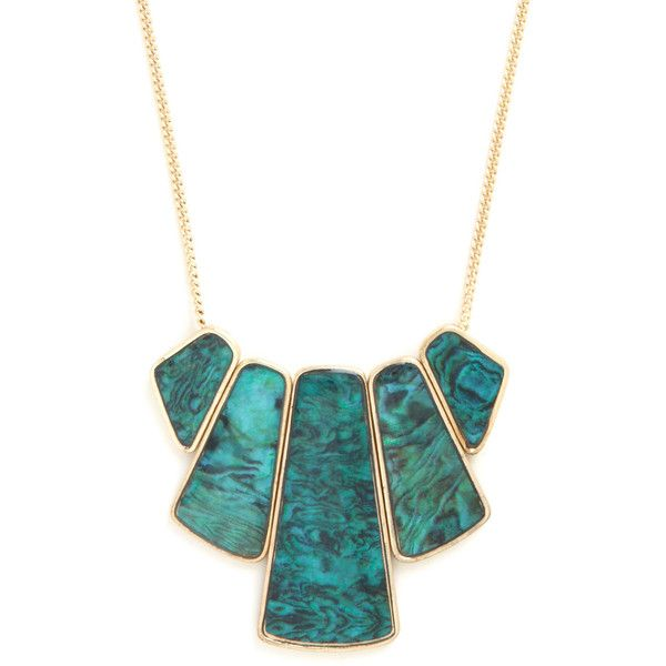 Statement Happily Ever Abalone Necklace by ModCloth (145 NOK) ❤ liked on Polyvore featuring jewelry, necklaces, accessories, collares, colares, green, green necklace, swirl necklace, green chain necklace and green pendant necklace
