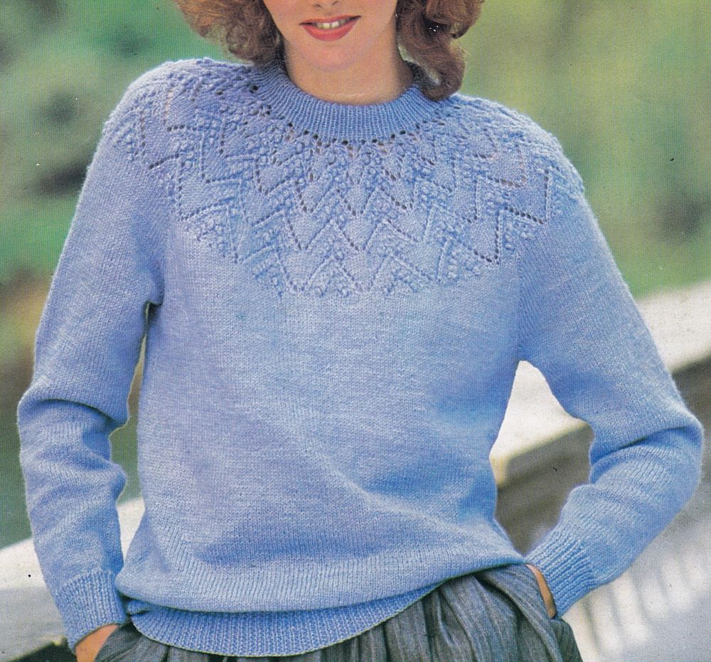 Vintage knitting pattern instructions for ladies lace yoke jumper vintage knitting pattern instructions for ladies lace yoke jumper in plus sizes bankloansurffo Gallery