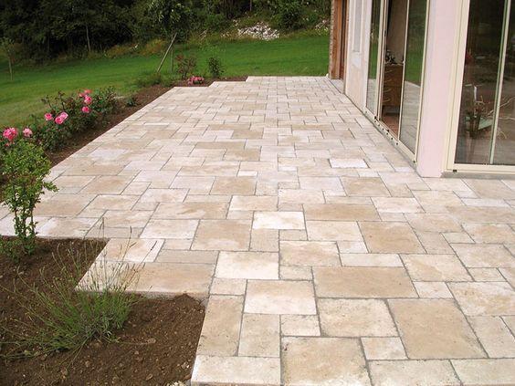 Terrassenplatten - Travatin Schöner Garten Pinterest Produkte - reihenhausgarten vorher nachher