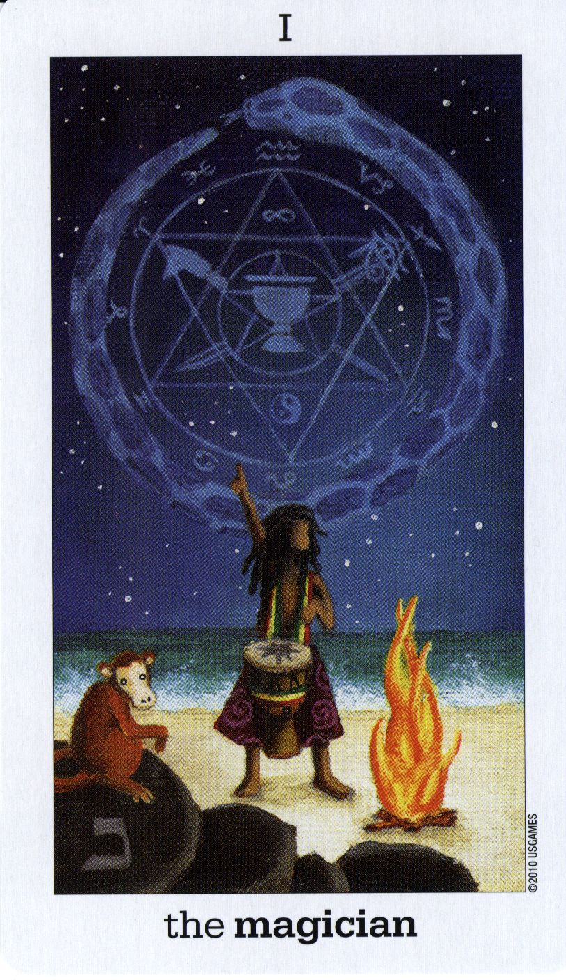 The Magician Tarot: The Magician - Sun And Moon Tarot