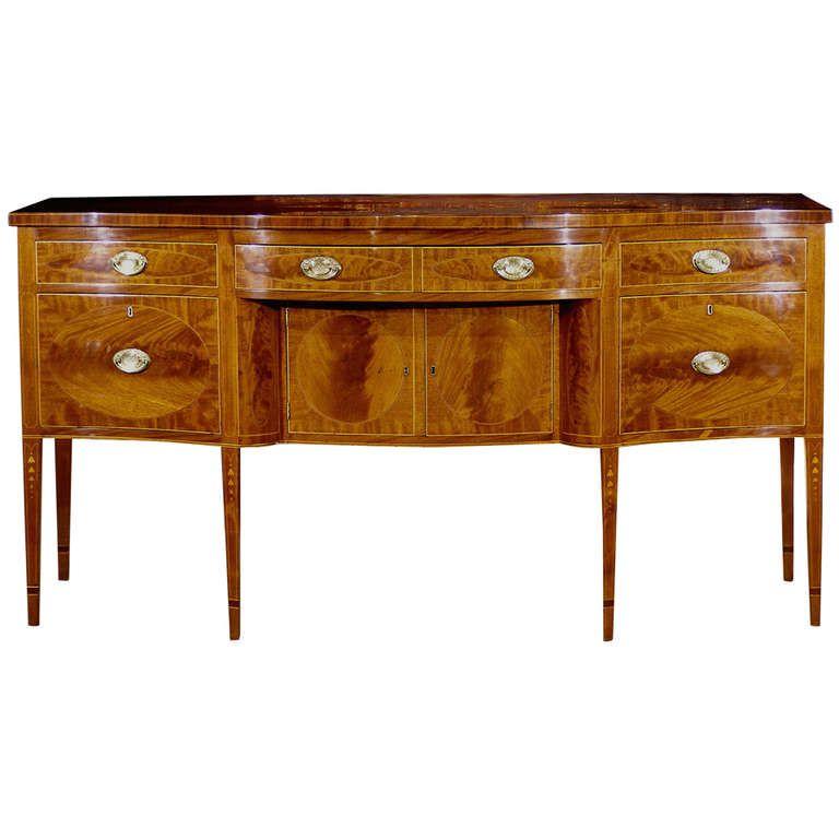American Federal Period 18th Century Inlaid Mahogany Sideboard