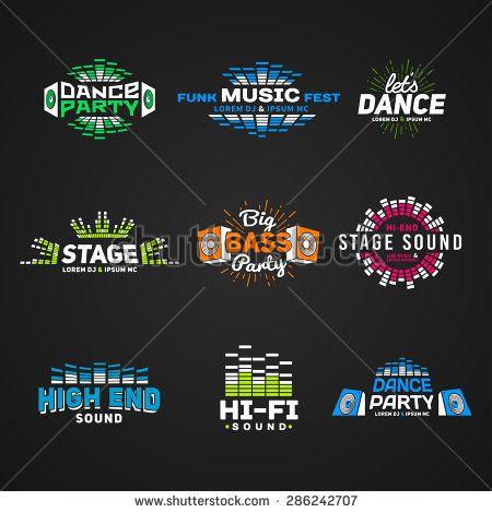 Sixth Set Music Equalizer Emblem Vector On Dark Background Modern Colorful Logo Collection Sound System Illustra Logo Design Love Logo Collection System Logo