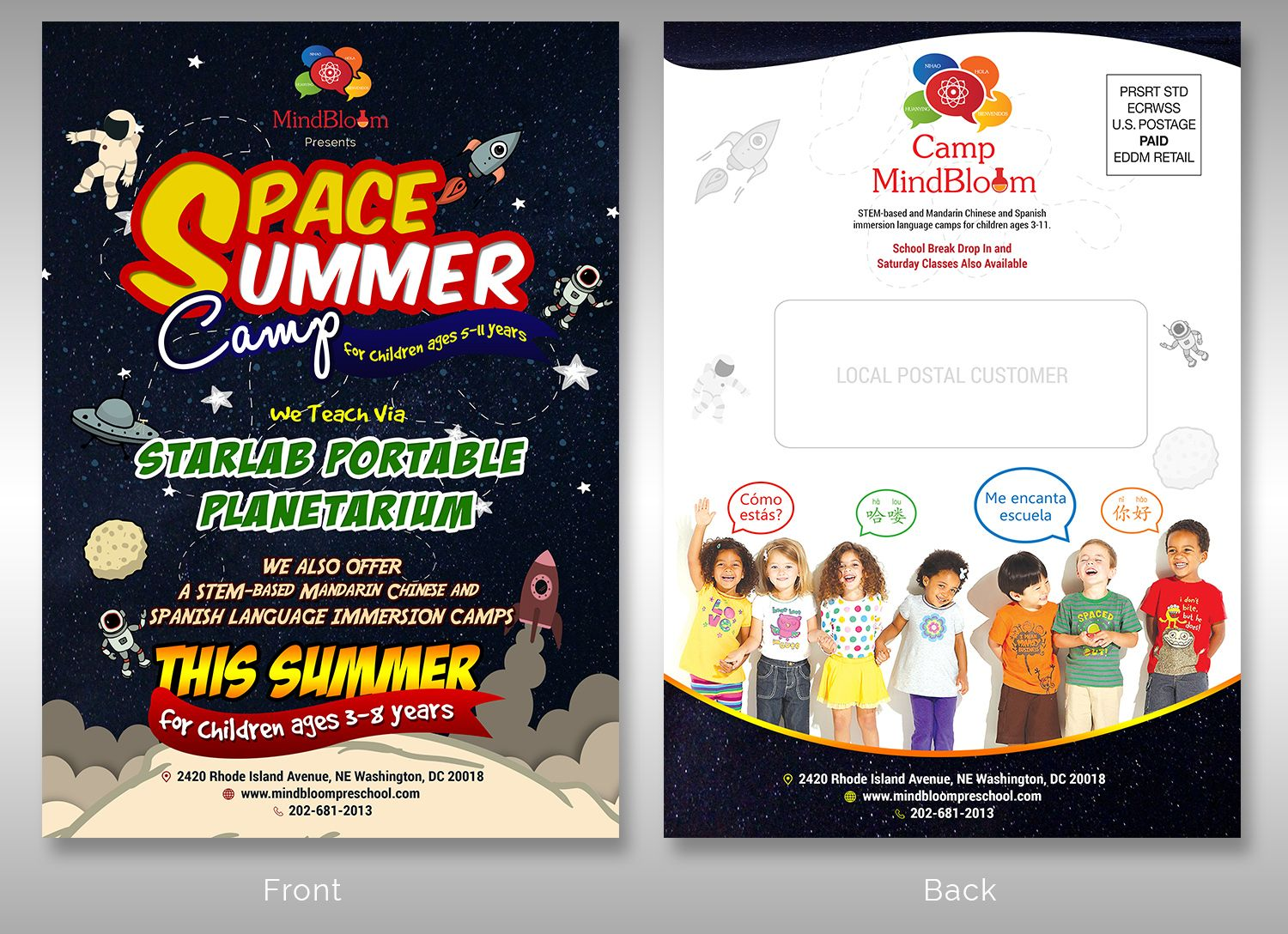 Flyer Design By Sd Web For Camp Mindbloom Needs A SpaceThemed