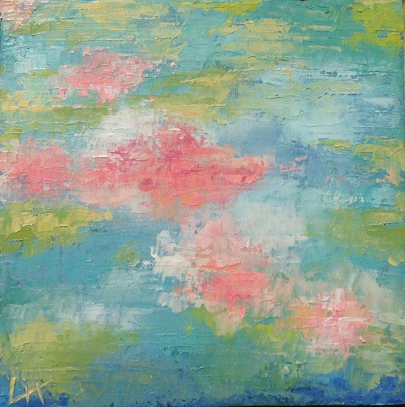 Original Abstract Oil Painting on Stretched by LaputaFineArt, $50.00