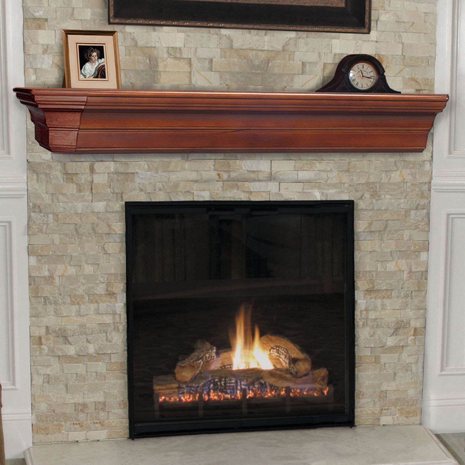 Cabinet Mantel: Pearl Mantels Lindon Traditional Fireplace Mantel Shelf