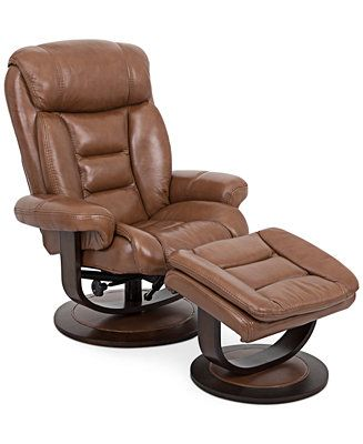 Eve Leather Recliner With Ottoman Chairs Recliners Furniture