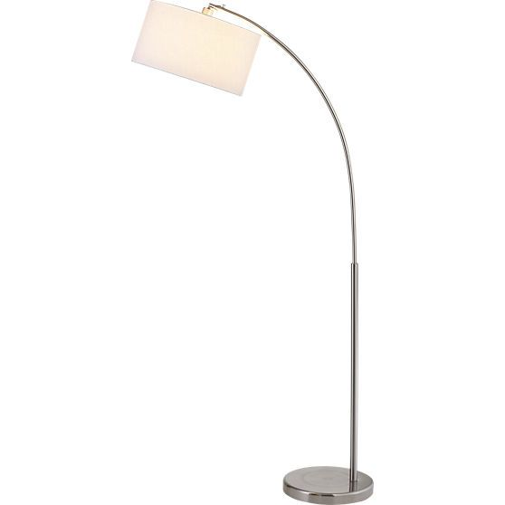 Big Dipper Arc Brushed Nickel Floor Lamp Art Deco