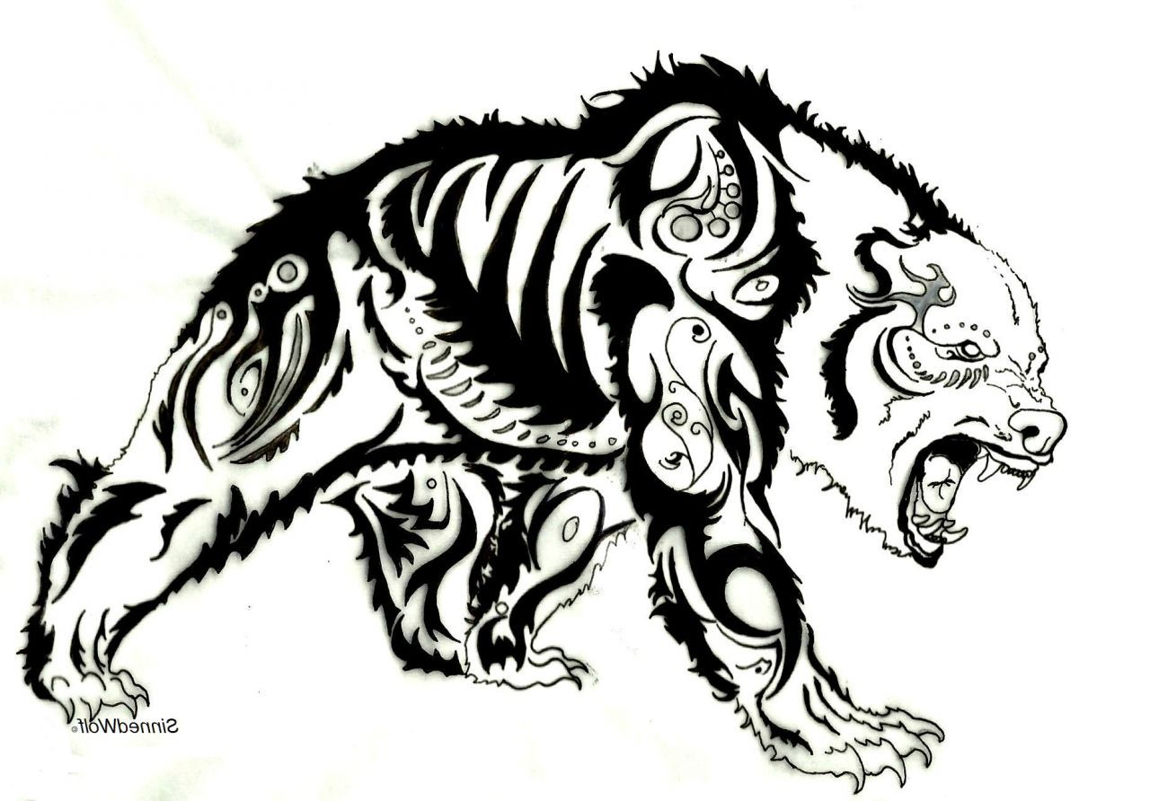 Tribal Bear Drawings Google Search Tribal Drawings Pinterest