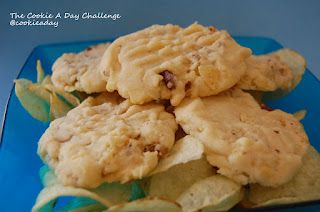 Potato Chip Cookies with toffee pieces www.thecookieadaychallenge.com