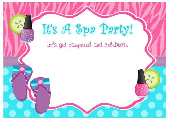 Invitacion Fiesta Spa Fiesta De Chicas Spa De Nenas
