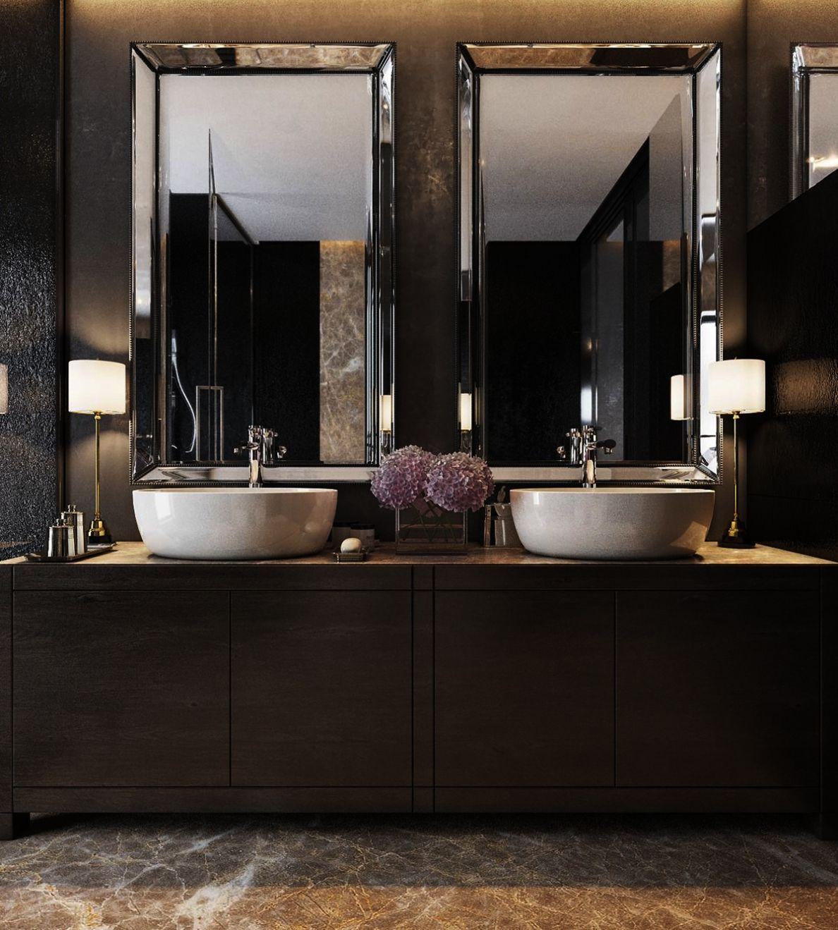 Plans Contemporary Bathroom Mirrors