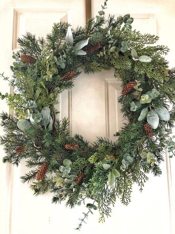 Photo of Christmas Wreath~Christmas Wreaths~Christmas Farmhouse Wreath~Christmas Winter Wreath~Christmas Wreaths for Front Door~Christmas