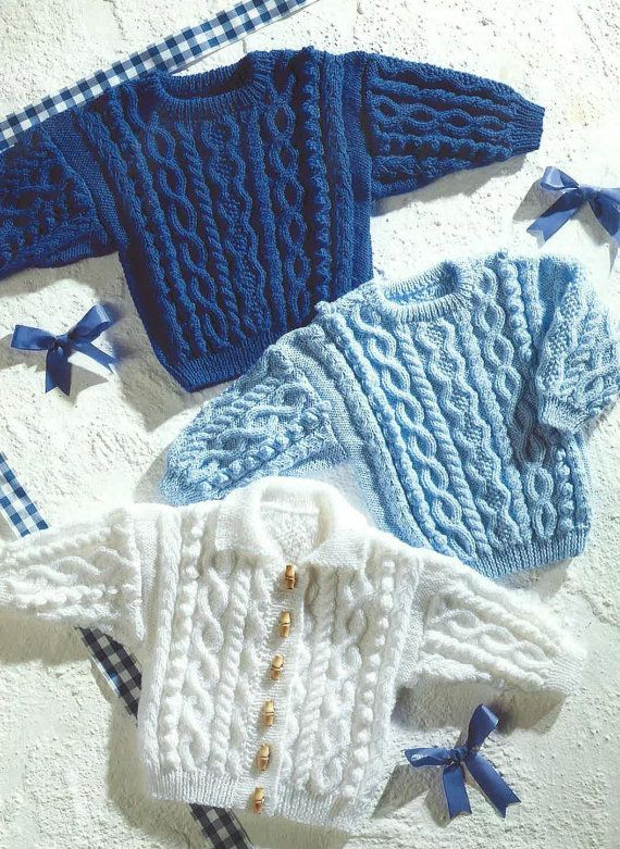 3b6d1f636829 Baby Sweater and Cardigan Knitting Pattern PDF No.0643 From ...